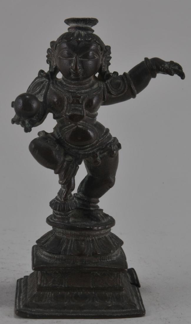 Bronze image. India. 17th century. Figure of Balarama.