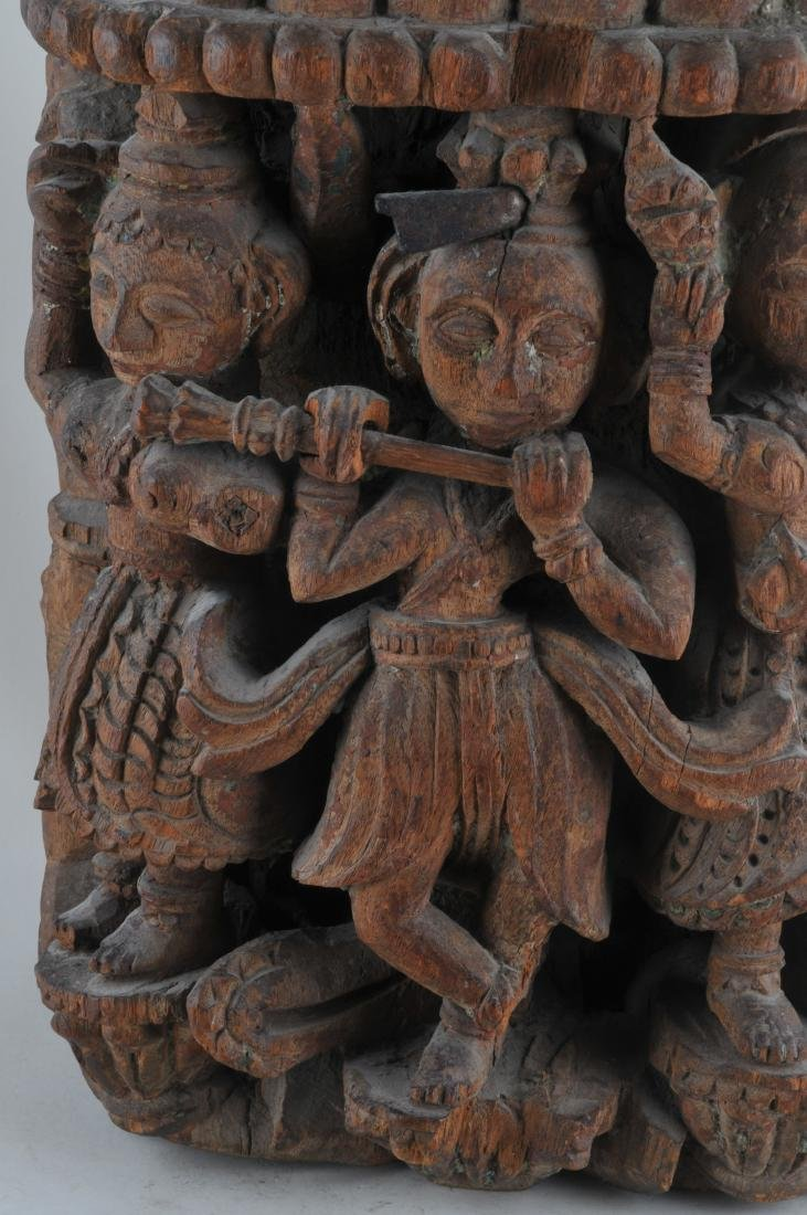 Carved wooden Architectural element. India. 19th - 2