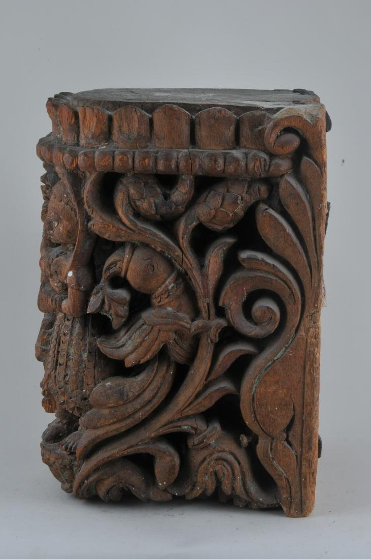 Carved wooden Architectural element. India. 19th - 3