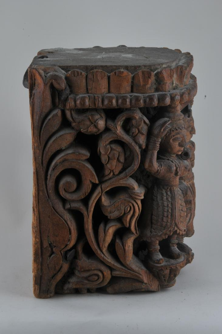 Carved wooden Architectural element. India. 19th - 6