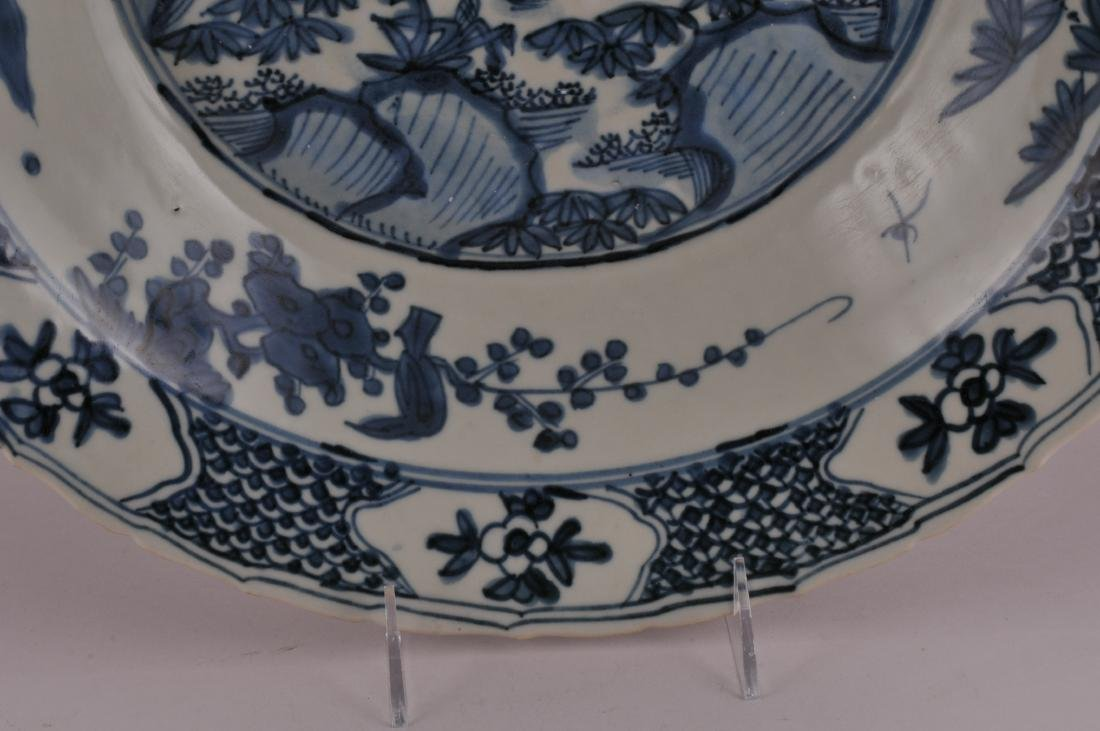 Large Chinese Ming Dynasty Swatow blue and white - 4