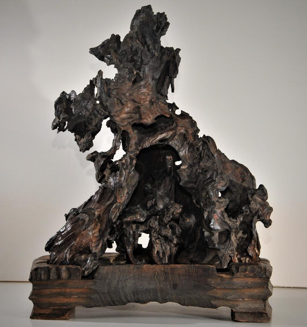 Rootwood carving. China. 18th/19th century. Scene of