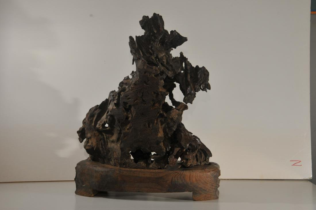 Rootwood carving. China. 18th/19th century. Scene of - 5