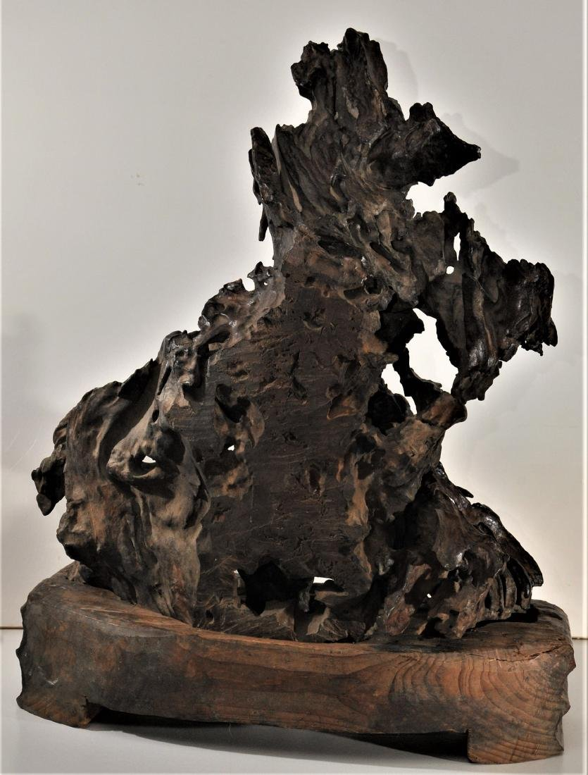 Rootwood carving. China. 18th/19th century. Scene of - 6