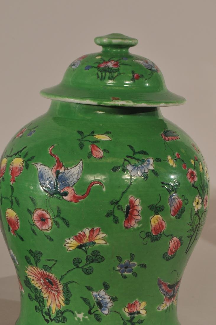 Pair of porcelain covered jars. China. 19th century. - 3