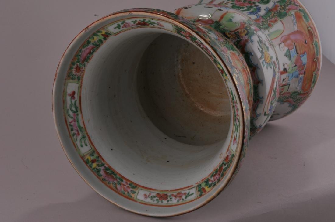Porcelain beaker vase. China. 19th century. Rose - 6