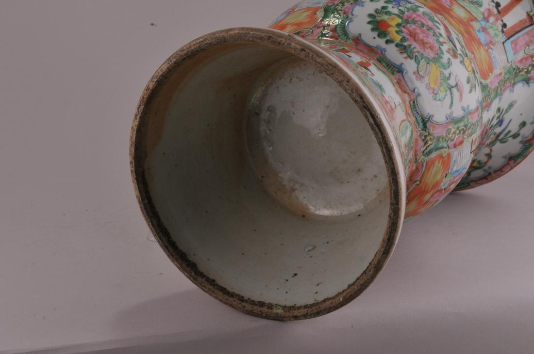Porcelain beaker vase. China. 19th century. Rose - 7