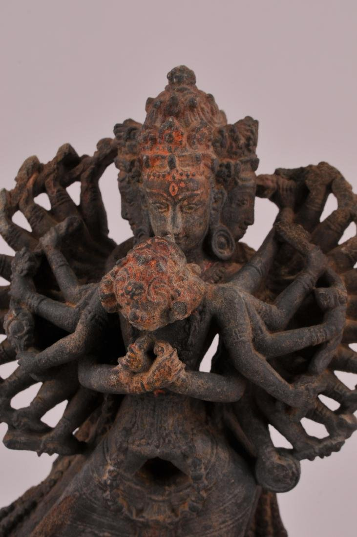 Carved stone Tantric image. Nepal of Tibet. 18th - 2