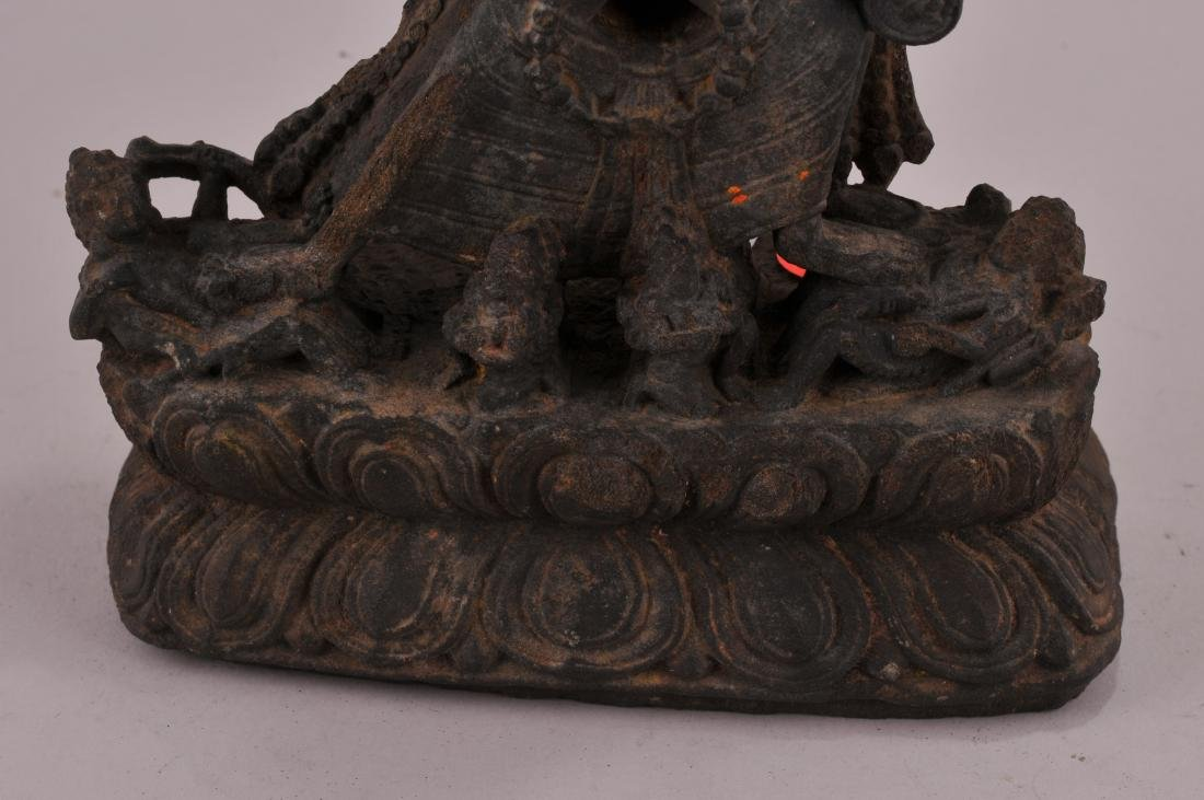 Carved stone Tantric image. Nepal of Tibet. 18th - 3