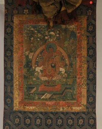Thangka. Tibet. 18th century. Scene of The Buddha in a
