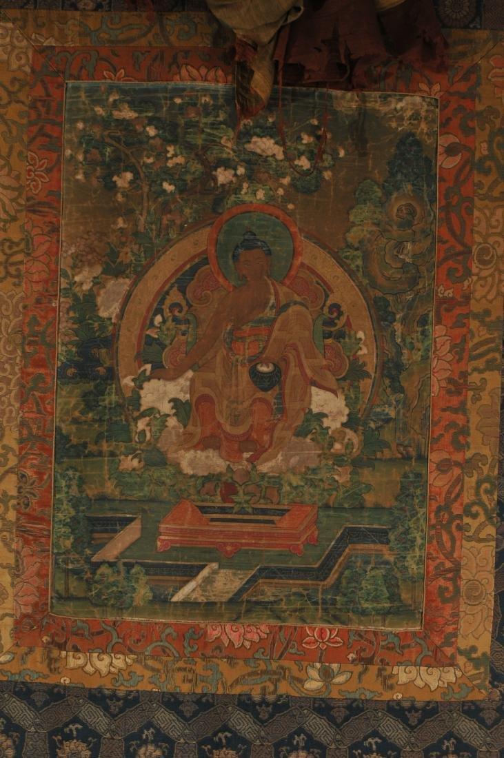 Thangka. Tibet. 18th century. Scene of The Buddha in a - 2