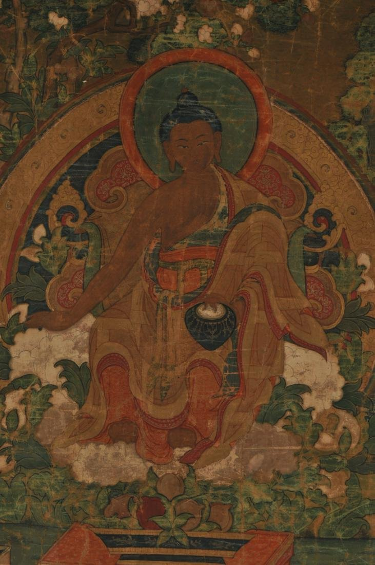 Thangka. Tibet. 18th century. Scene of The Buddha in a - 3