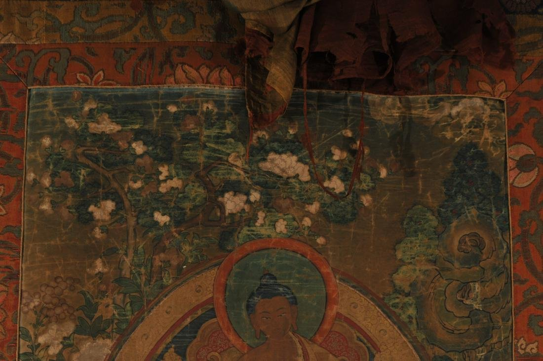 Thangka. Tibet. 18th century. Scene of The Buddha in a - 4