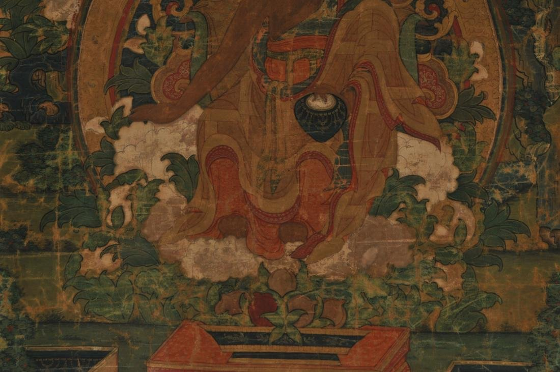 Thangka. Tibet. 18th century. Scene of The Buddha in a - 5