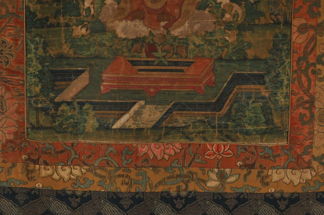 Thangka. Tibet. 18th century. Scene of The Buddha in a - 6