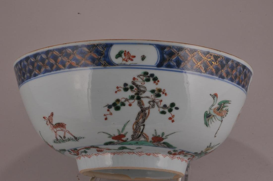 Porcelain bowl. Chinese Export ware. 18th century. - 6