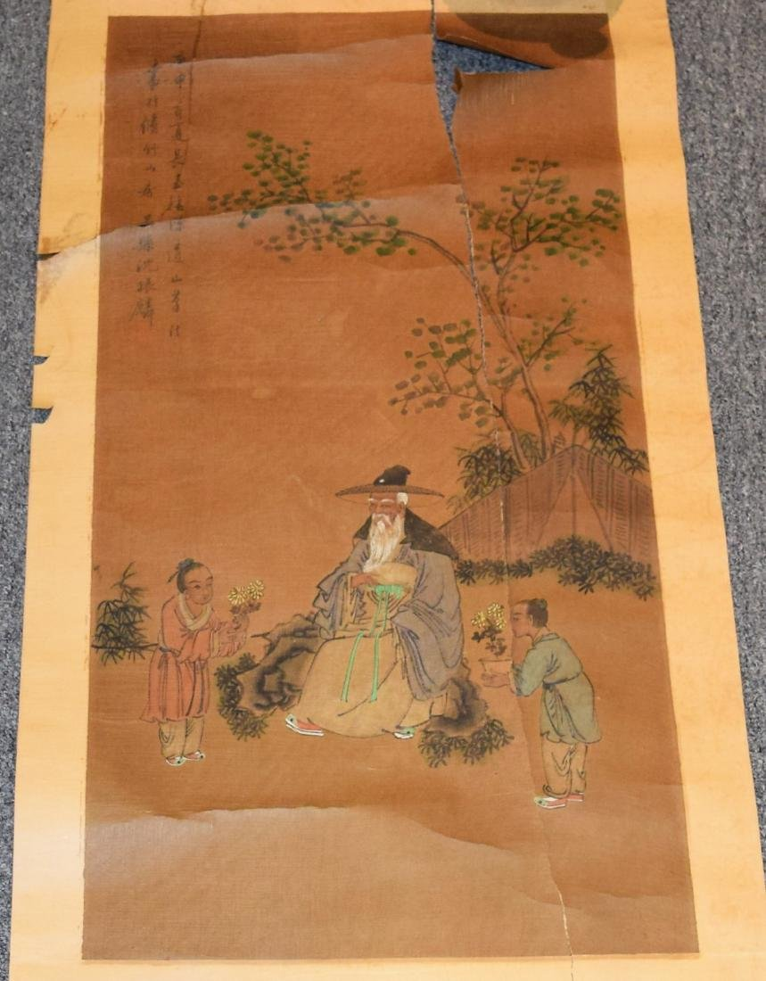 Two hanging scrolls. China. Late 19th century.