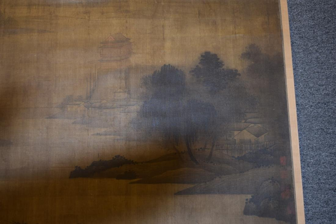 Two hanging scrolls. China. Late 19th century. - 3