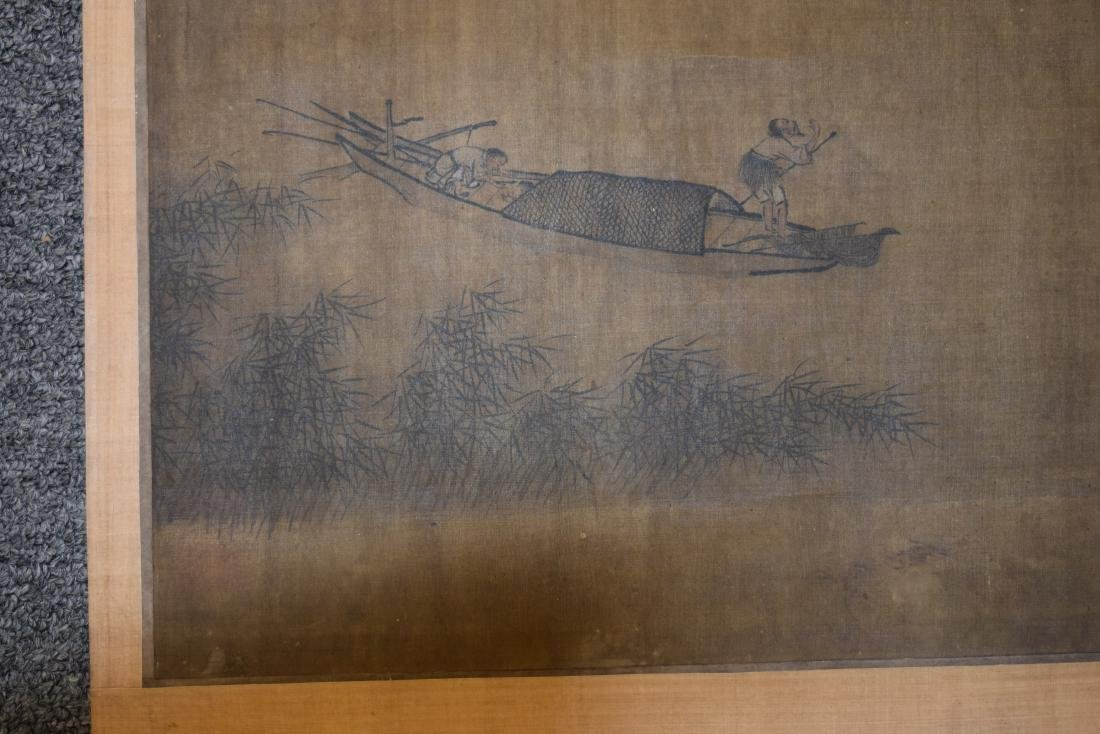 Two hanging scrolls. China. Late 19th century. - 4