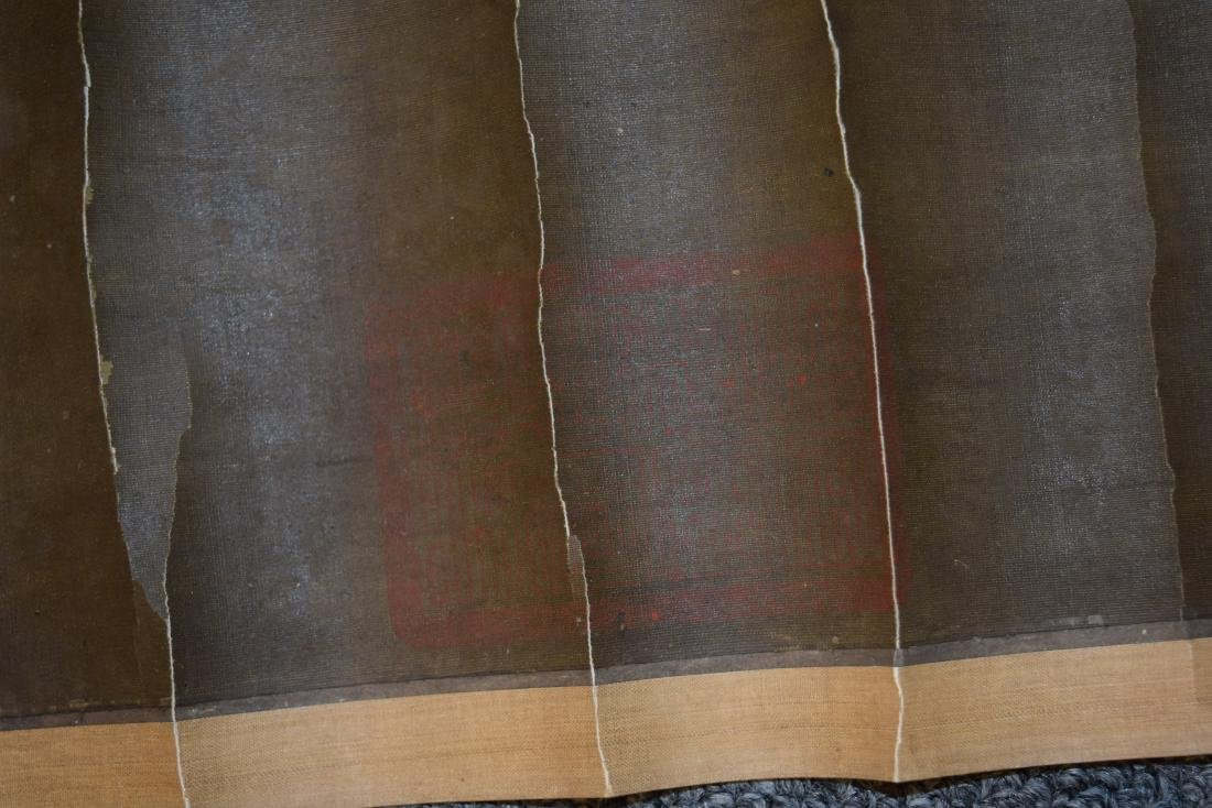 Two hanging scrolls. China. Late 19th century. - 6
