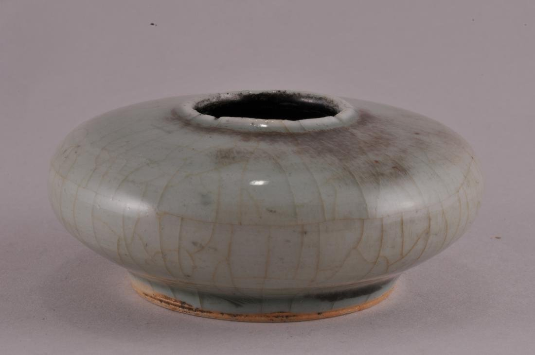 19th century Chinese Peach Bloom porcelain round