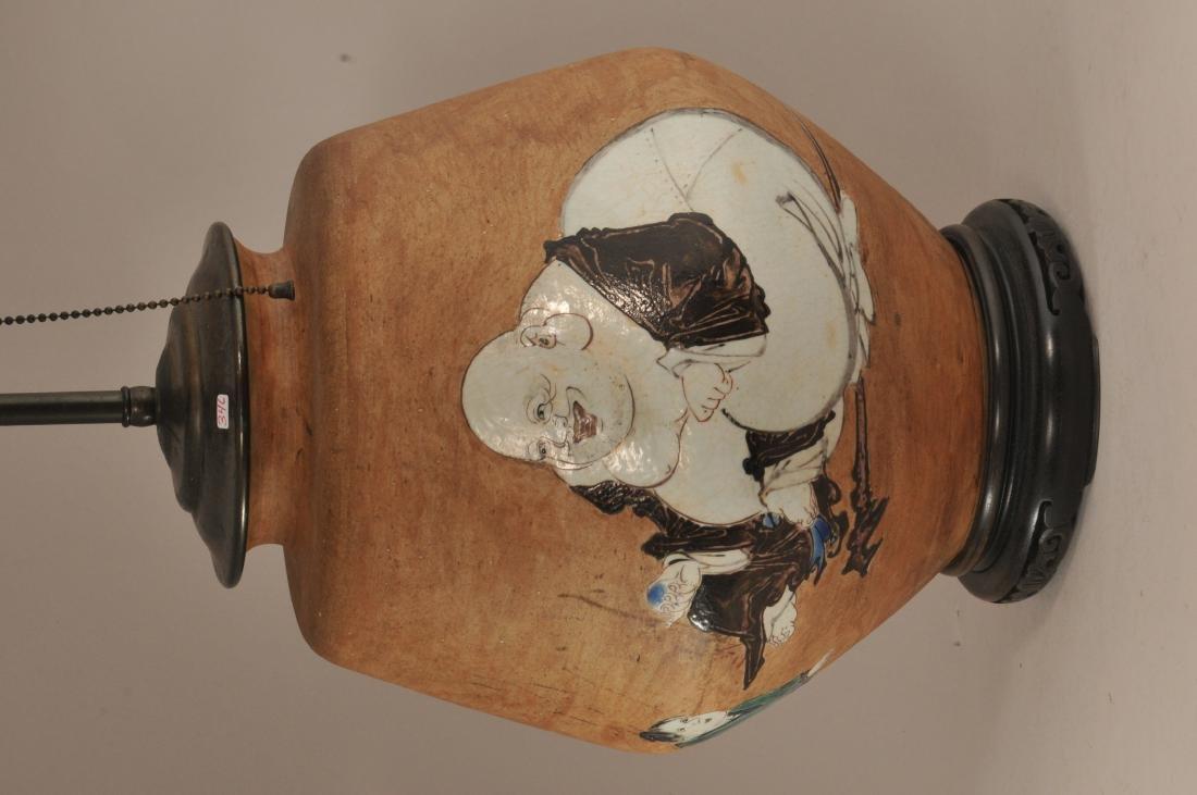 Stoneware jar. Japan. 19th century.  Glaze decoration - 2