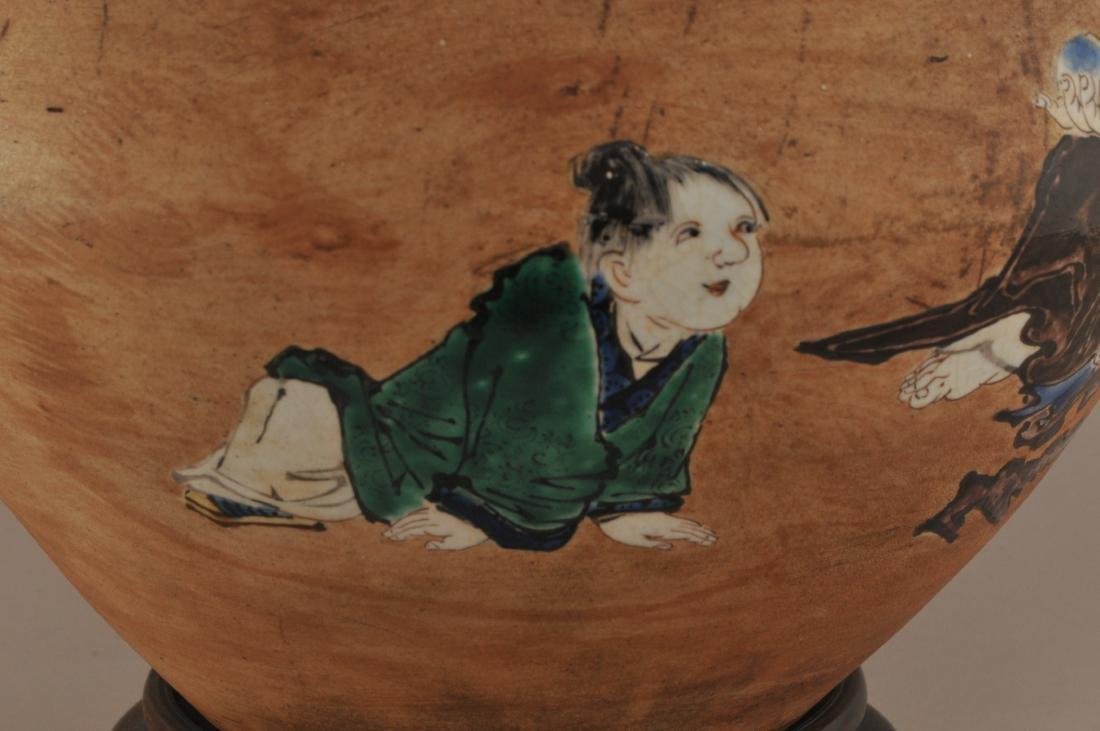 Stoneware jar. Japan. 19th century.  Glaze decoration - 6