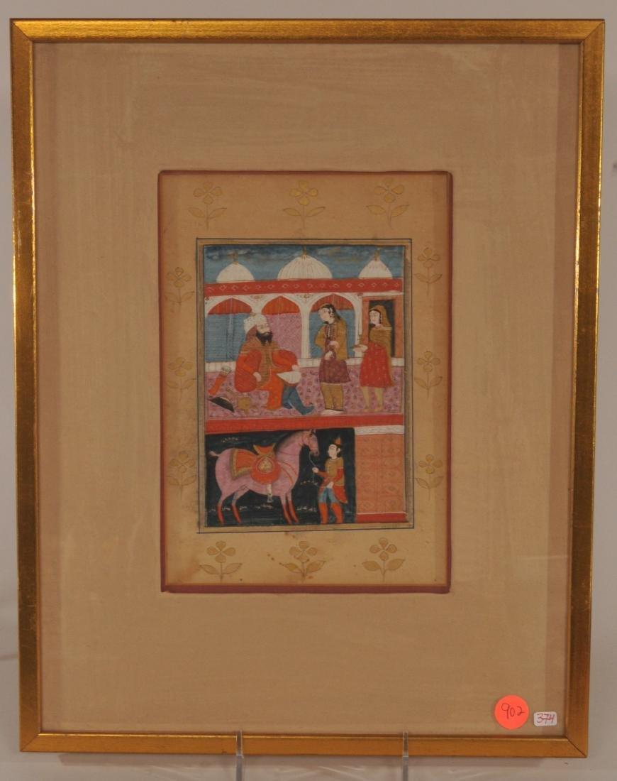 Miniature painting. Kashmir. 19th century. Ink, colours