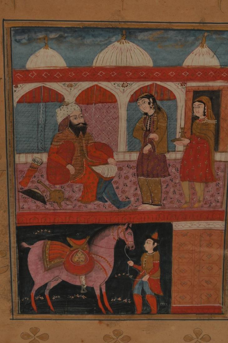 Miniature painting. Kashmir. 19th century. Ink, colours - 3