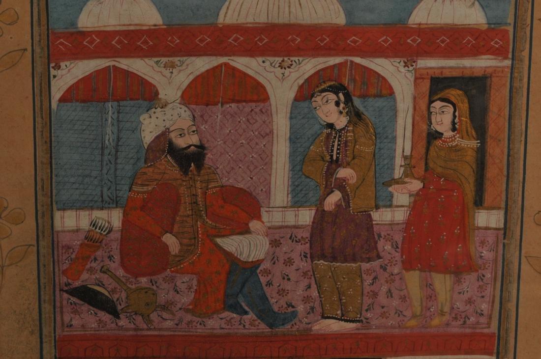 Miniature painting. Kashmir. 19th century. Ink, colours - 4