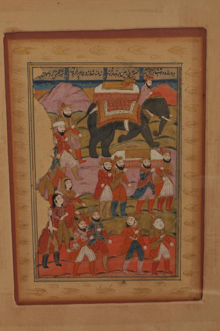 Miniature painting. Kashmir. 19th century. Ink, colours - 2