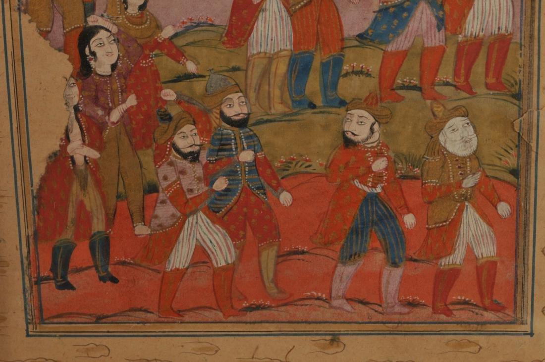 Miniature painting. Kashmir. 19th century. Ink, colours - 5