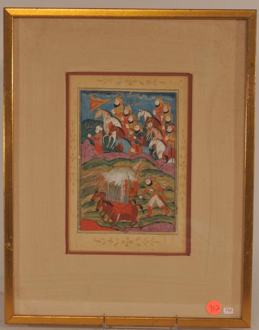 Miniature painting. Kashmir. 19th century. Ink and