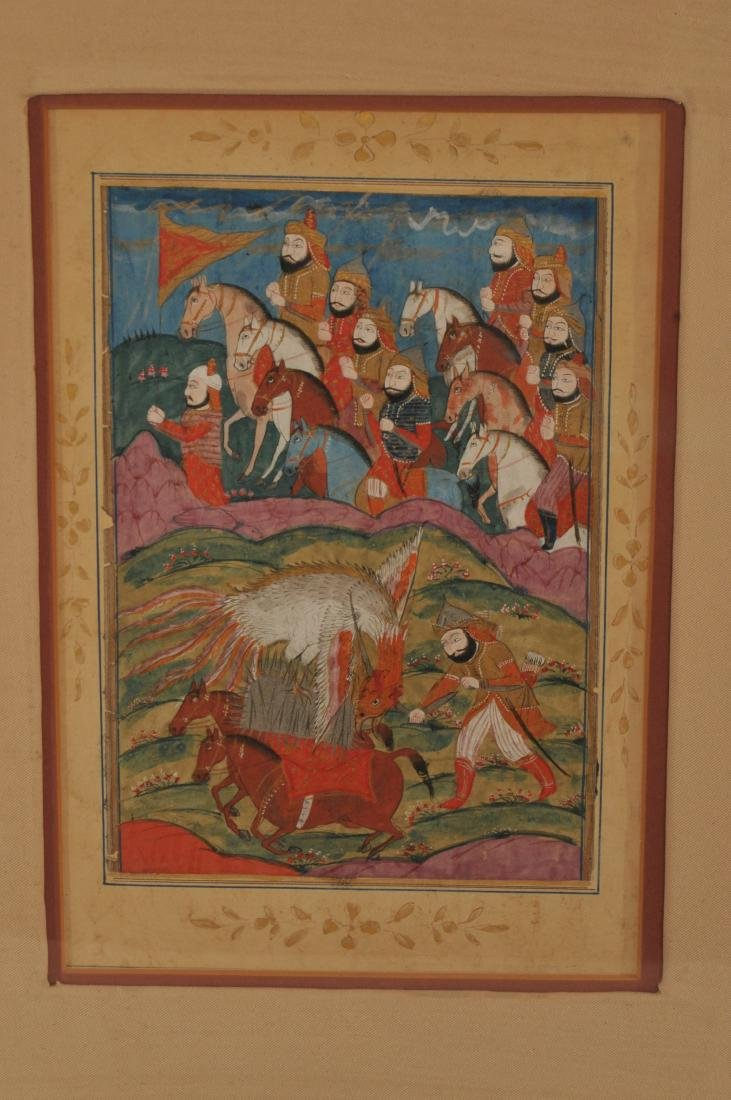 Miniature painting. Kashmir. 19th century. Ink and - 2