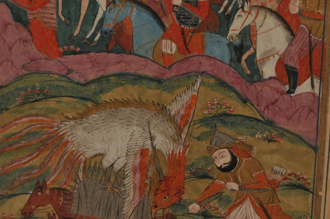 Miniature painting. Kashmir. 19th century. Ink and - 4