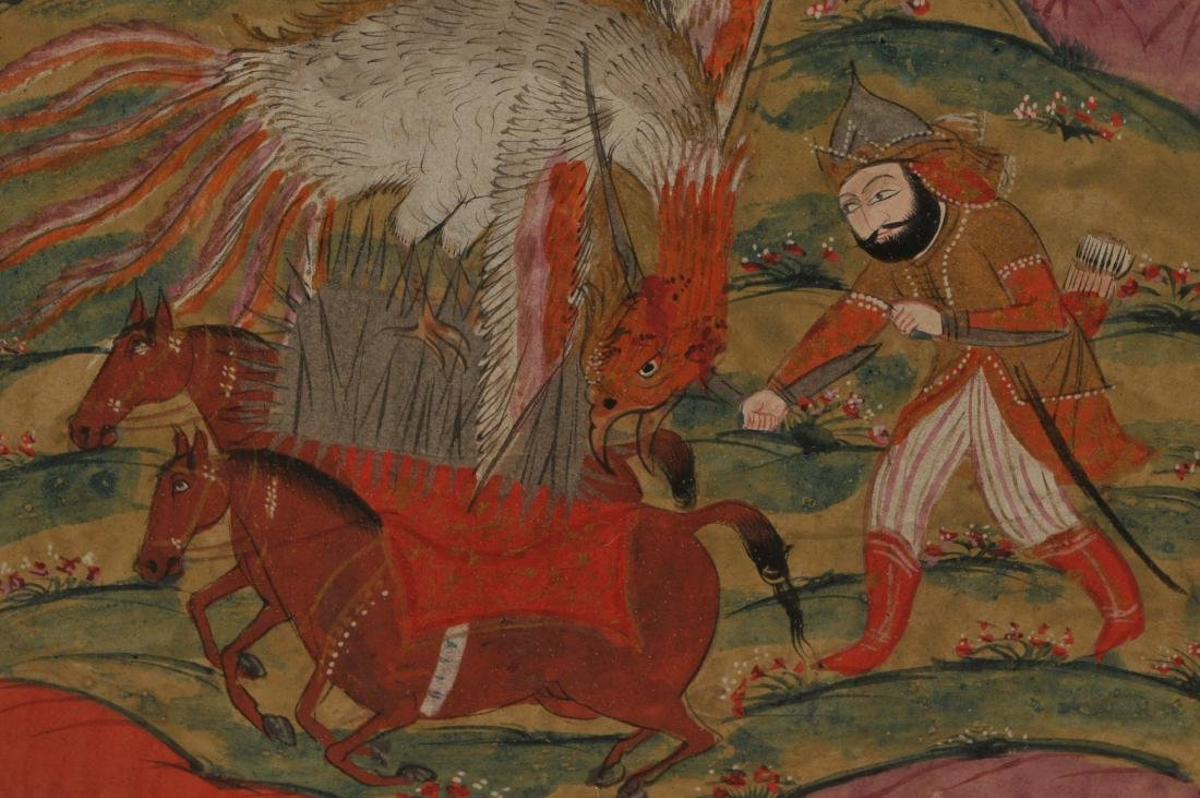 Miniature painting. Kashmir. 19th century. Ink and - 5