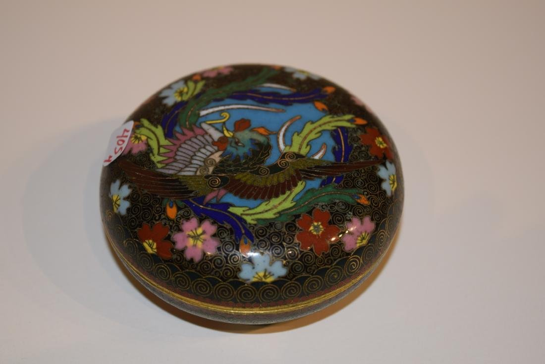 Four Japanese Cloisonne small covered boxes. Largest - - 4