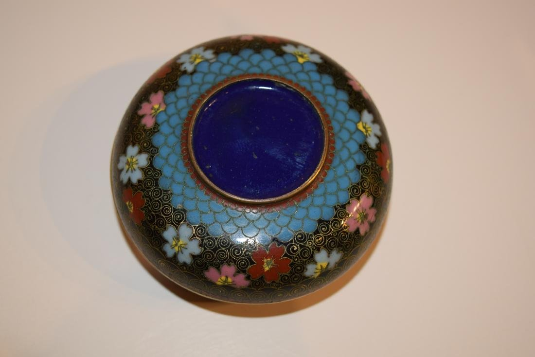 Four Japanese Cloisonne small covered boxes. Largest - - 5