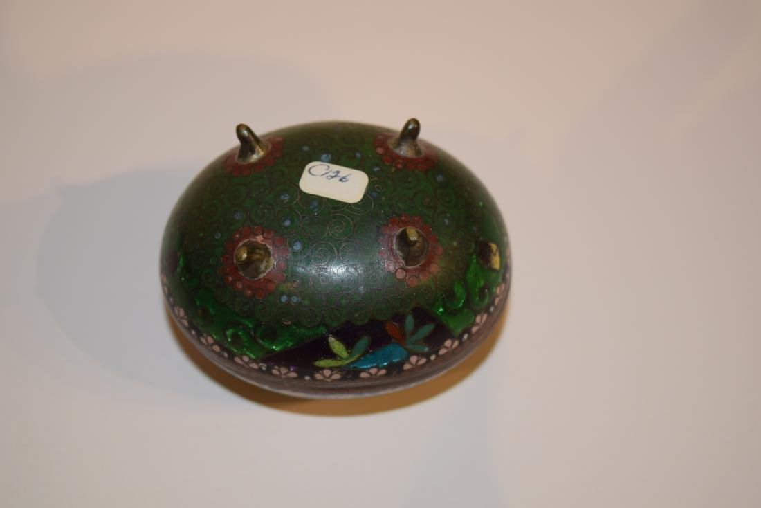 Four Japanese Cloisonne small covered boxes. Largest - - 7