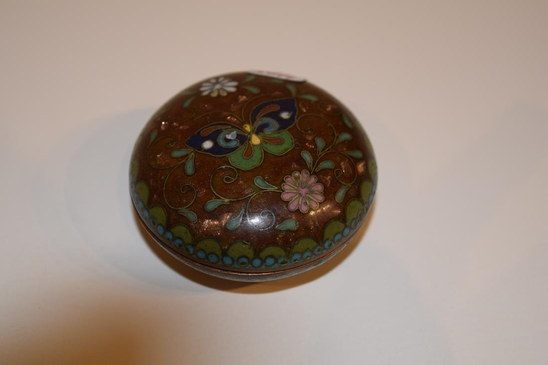 Four Japanese Cloisonne small covered boxes. Largest - - 8
