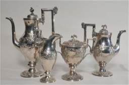 S. Kirk & Son early 19th century Sterling silver four