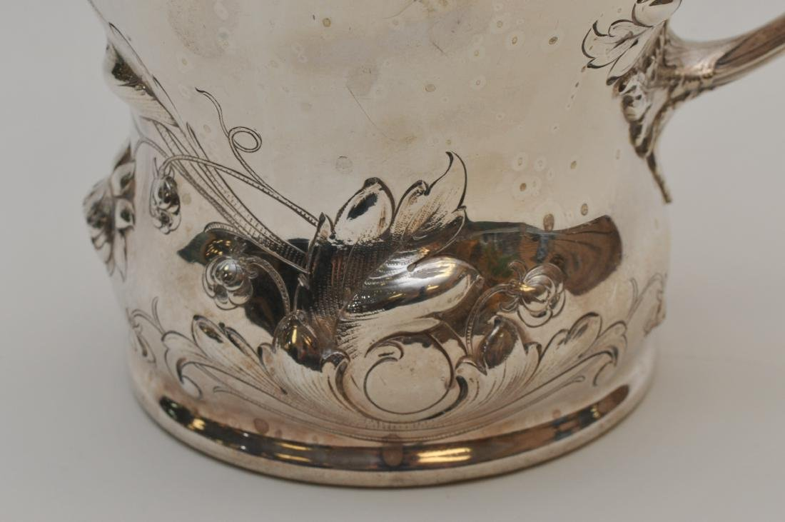 Large Gorham sterling silver floral repousse decorated - 3