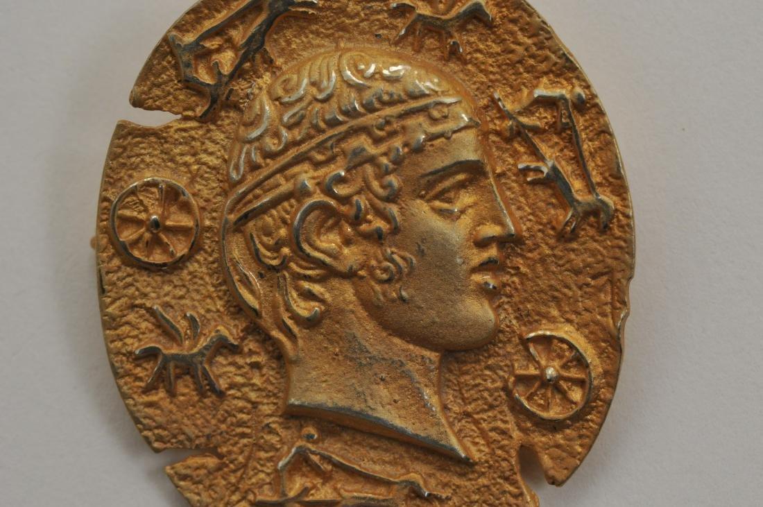 Mixed lot of 14k yellow gold jewelry. Cross pendant, 18 - 2