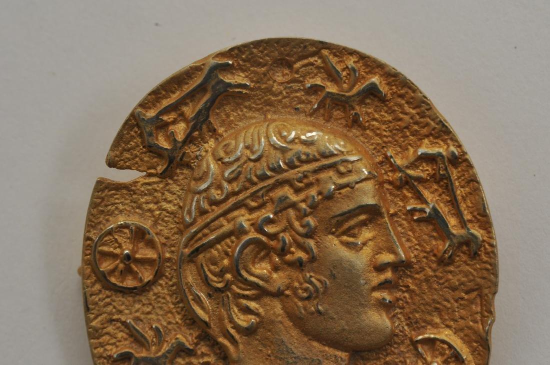 Mixed lot of 14k yellow gold jewelry. Cross pendant, 18 - 3