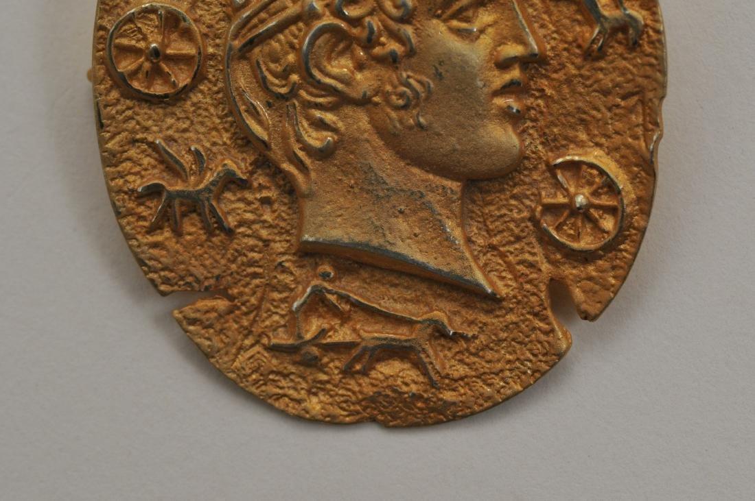 Mixed lot of 14k yellow gold jewelry. Cross pendant, 18 - 4