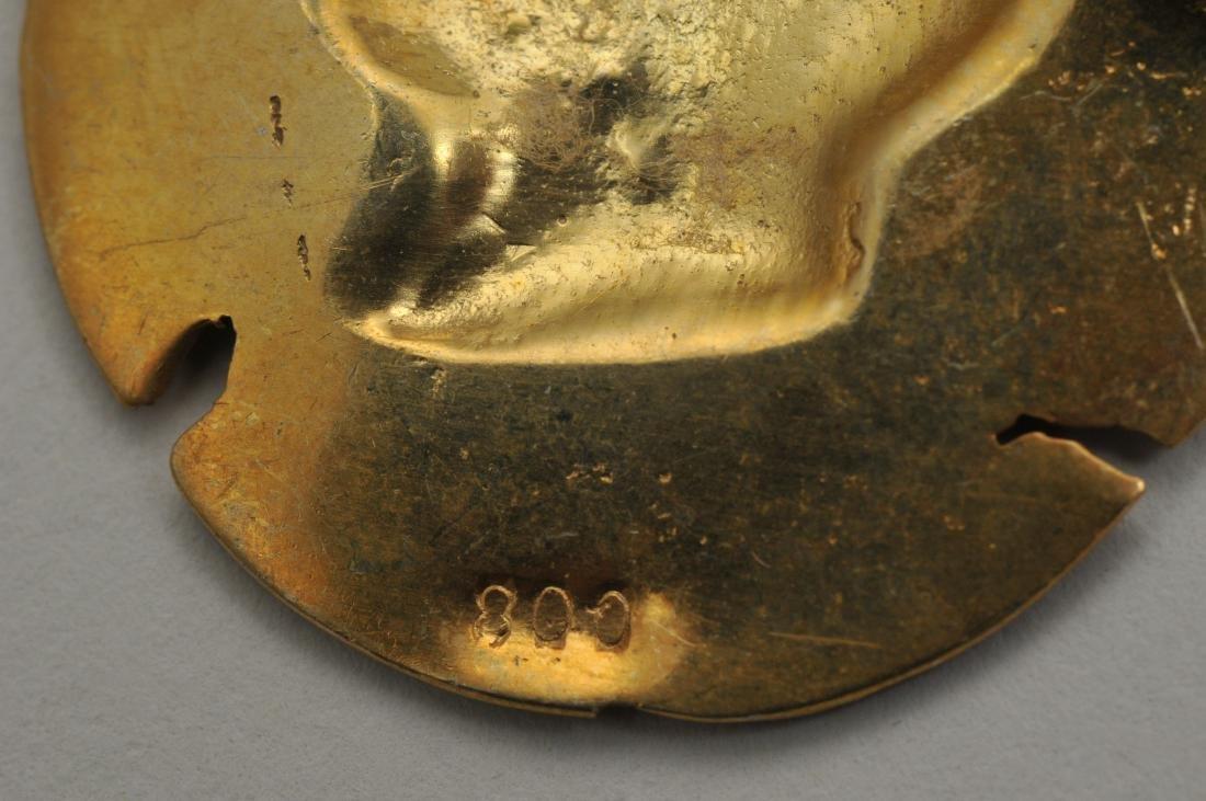 Mixed lot of 14k yellow gold jewelry. Cross pendant, 18 - 6