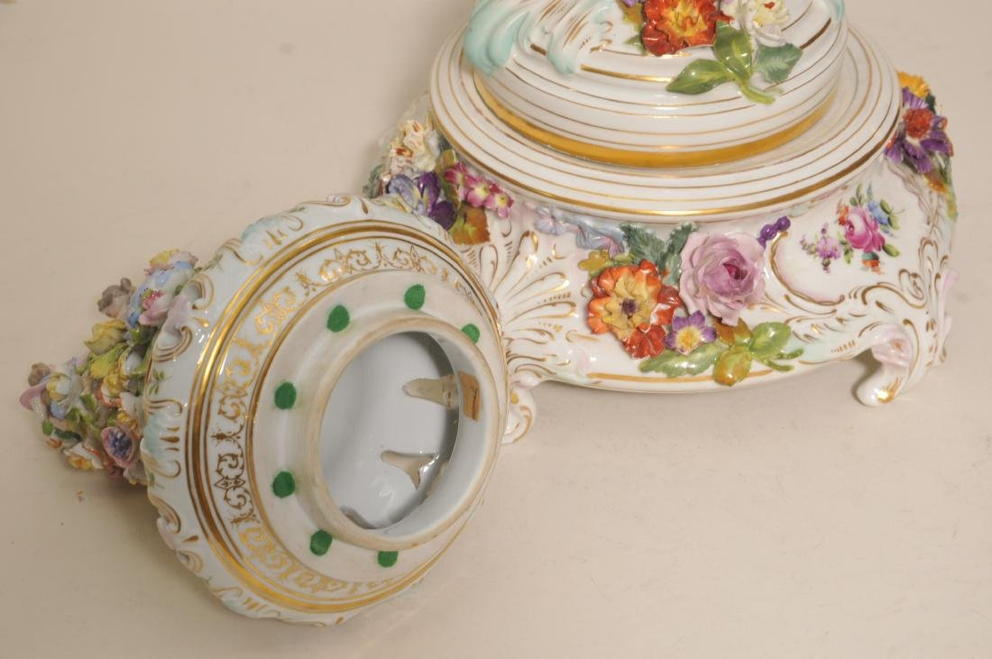 19th/20th century large impressive hand painted Dresden - 10
