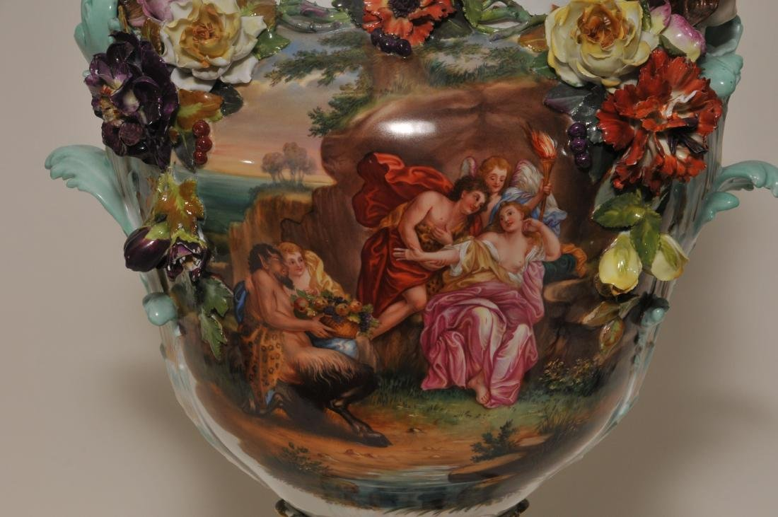 19th/20th century large impressive hand painted Dresden - 2