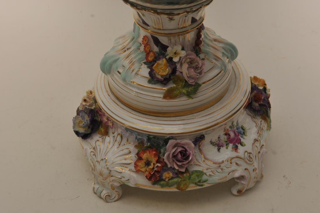 19th/20th century large impressive hand painted Dresden - 5