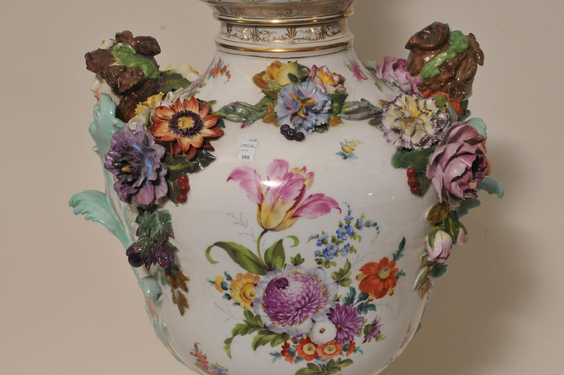 19th/20th century large impressive hand painted Dresden - 9